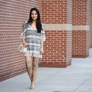 CHASER Striped Shirt Dress